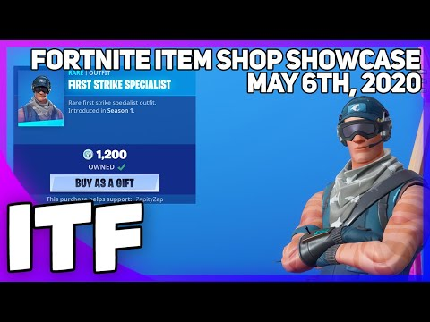 Fortnite Item Shop *RARE* FIRST STRIKE SPECIALIST IS BACK! [May 6th, 2020] (Fortnite Battle Royale)