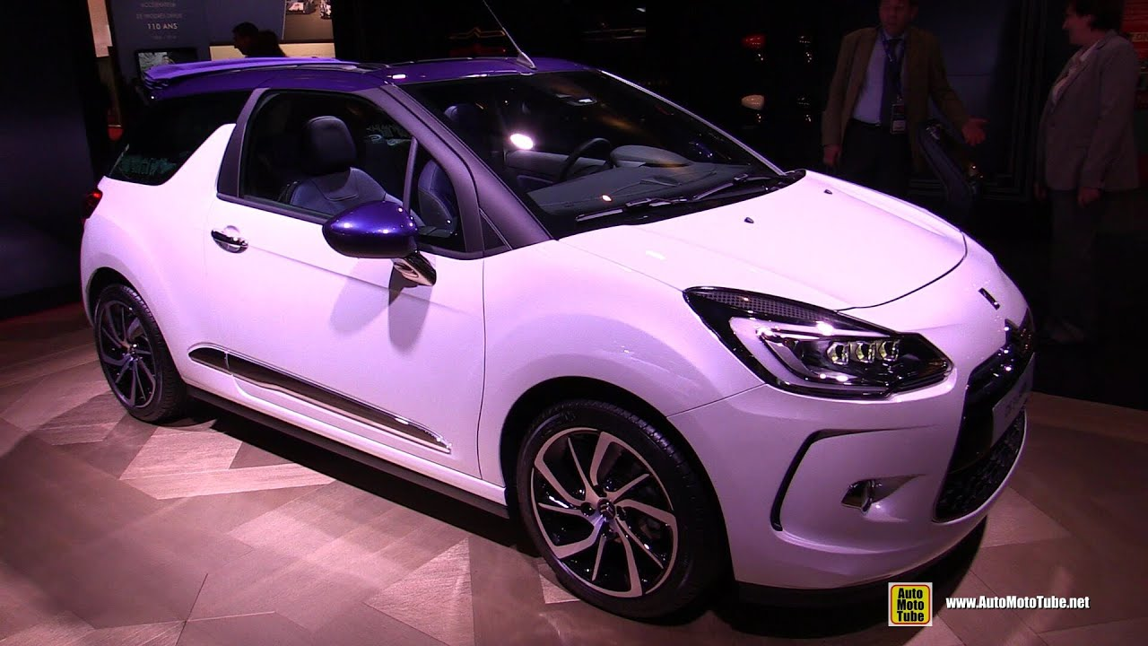 2015 citroen ds3 cabrio puretech so chic exterior and interior walkaround 2014 paris auto. Black Bedroom Furniture Sets. Home Design Ideas