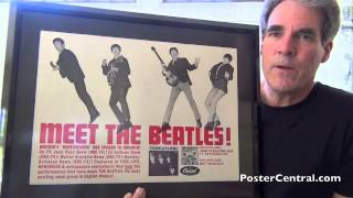 Meet The Beatles Promo Display 1964 Capitol Records Easel-back