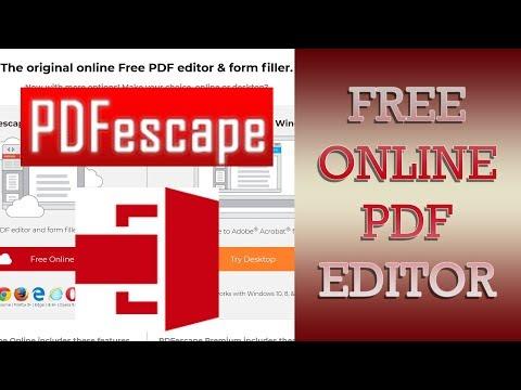 Free PDF Editor Online 2019 PDF Escape - How To Edit PDF Files Online