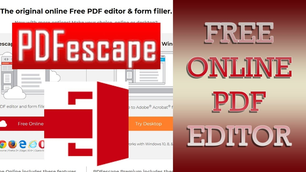 Free PDF editor online 2019 PDF Escape - How to edit PDF files online