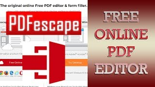 free PDF editor online PDF Escape - How to edit PDF files online