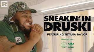 Druski pulls up to Teyana Taylor's home to school her on sustainability | Sneakin' In With Druski
