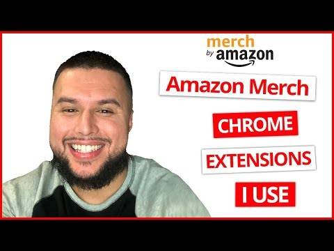 Amazon Merch Chrome Extensions I Use