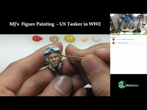Man-Jin Kim's  Figure Painting  - 1/16 US Tanker in WW2 (Face painting - Part 1)