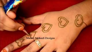 Most Easy Heart Shape Mehndi Design#Mehndi Designs For Hands #Simple Mehndi Designs