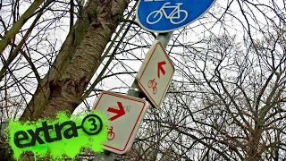 Realer Irrsinn: Sinnloser zweiter Radweg