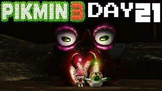 Pikmin 3: Creepy Crawmad - DAY 21 (Nintendo Wii U HD Gameplay Walkthrough)