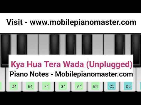Unplugged - Kya Hua Tera Wada Piano|Yaad Hai Mujhko Piano| Piano Lessons|Music|Piano|Mobile|Online