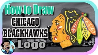🎨 How to Draw the Chicago Blackhawks Logo 🏒