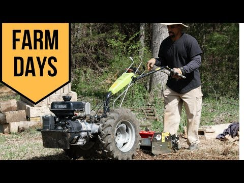 Breaking NEW Ground// FARM DAYS // From Grass To Garden Beds With The GRILLO Walk Behind Tractor