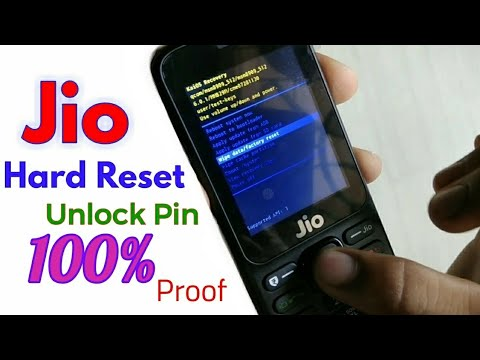 Jio 4g Phone Hard Reset Unlock Pin F90m 100 Work Youtube