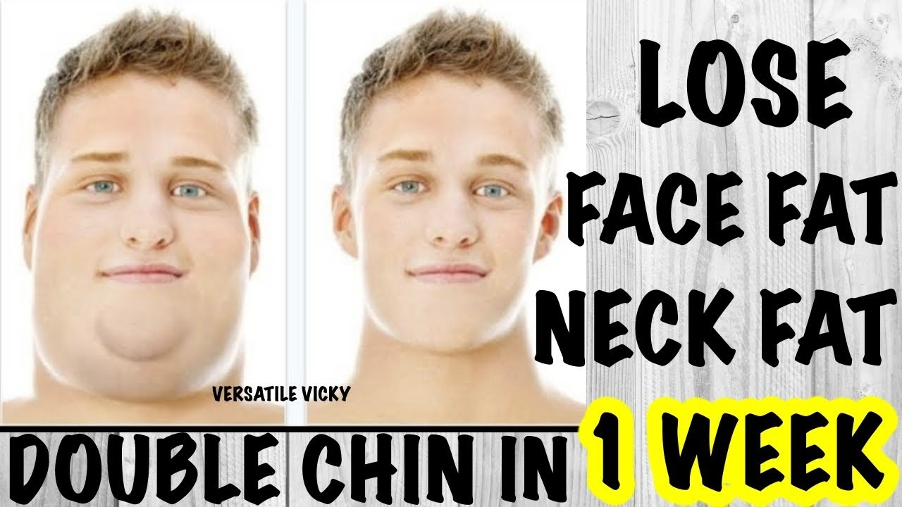 how to lose weight on your face and double chin