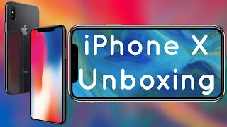 Space Grey iPhone X Unboxing