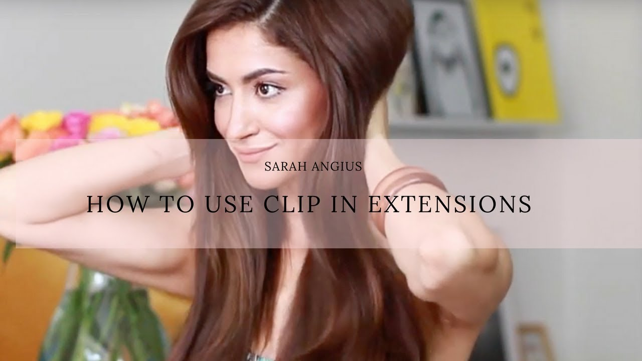 How To Use The Luxy Hair Extensions Sarah Angius Youtube