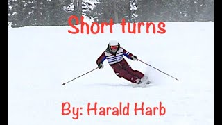 HH Skiing short turns on new hip.