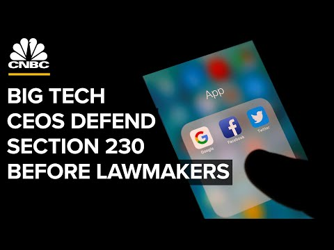 Facebook, Google and Twitter CEOs defend Section 230 to senators — 10/28/2020