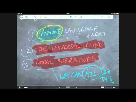 Tom's Process For Creating Chalkboard-Style Videos - and the technology behind it and the apps etc