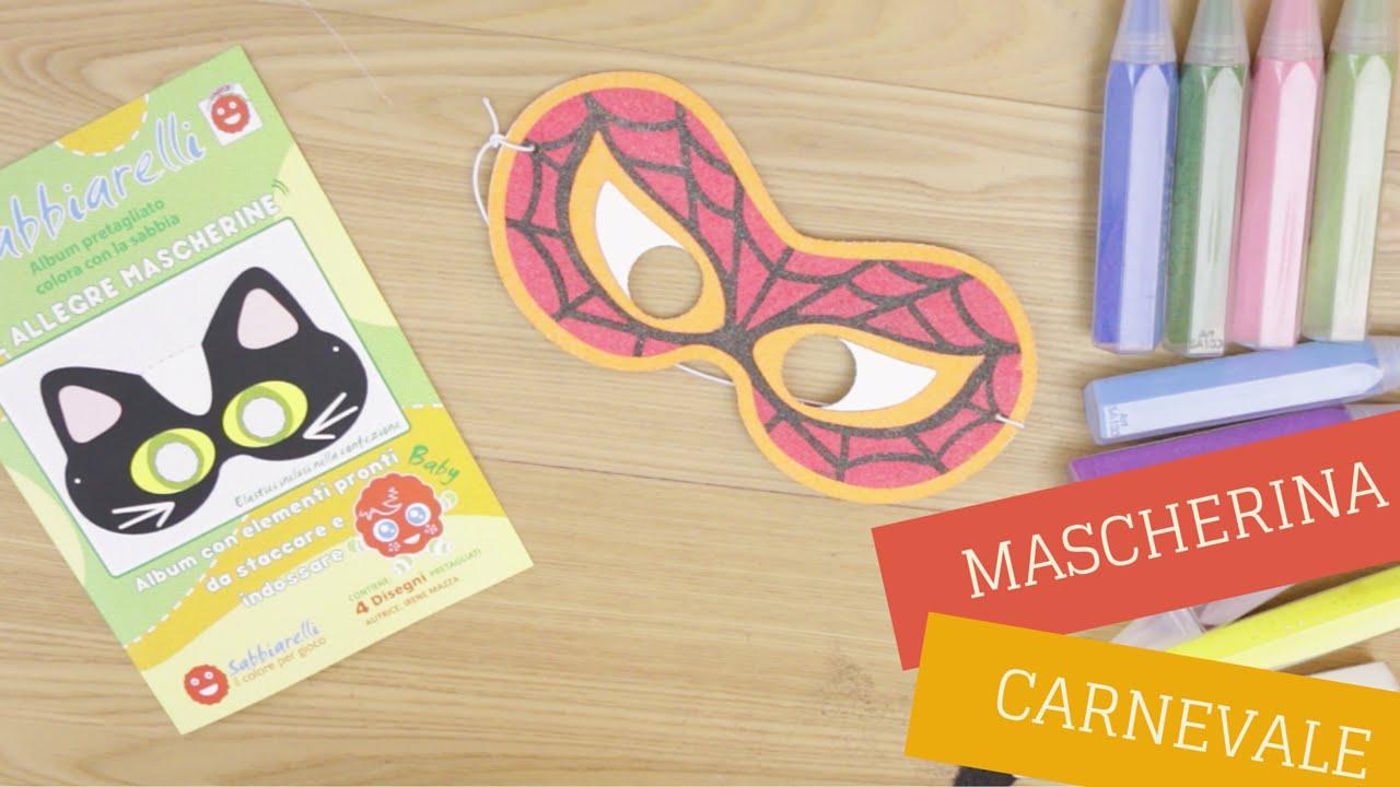 Mascherine Di Carnevale Per Bambini Da Colorare Con I Sabbiarelli