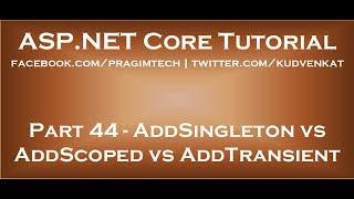 AddSingleton vs AddScoped vs AddTransient