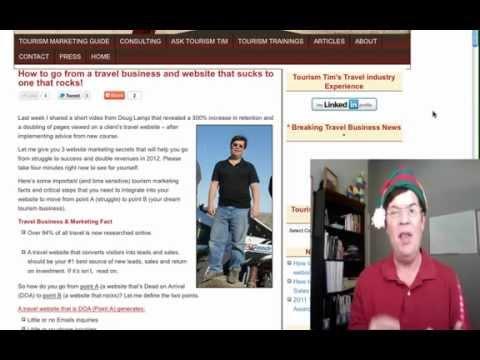 Travel Business Tourism Marketing Sale Video: Save 41% till 12/22/11
