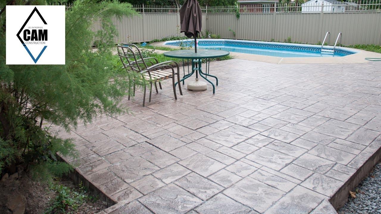 B ton estamp patio piscine creus e youtube for Piscine creusee