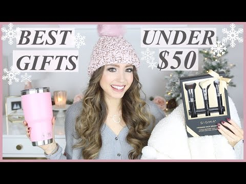 BEST CHRISTMAS GIFTS FOR HER UNDER $50 | HOLIDAY GIFT GUIDE 2018 | MOM, GIRLFRIEND, BEST FRIEND