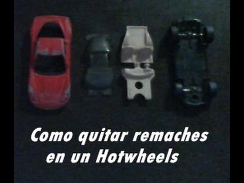 Hot wheels como quitar remaches sin taladro facil y rapido for Como quitar manchas de gasoil