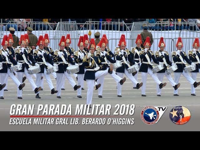 Escuela Militar en Gran Parada Militar Chile 2018. (Cámaras Fidaegroup) 1 de 9