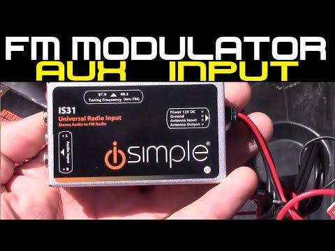 iSimple Car Stereo FM modulator Aux input DIY - YouTube