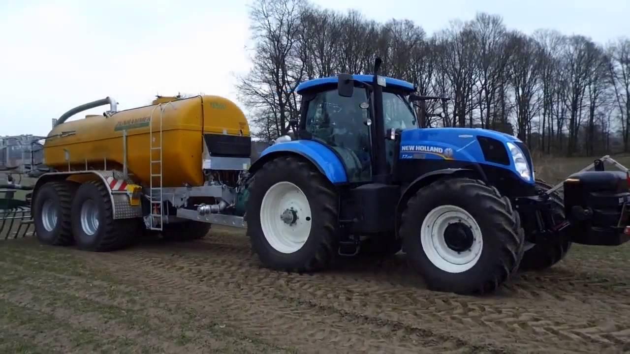 3 new holland traktoren g lle fahren grubbern pfl gen. Black Bedroom Furniture Sets. Home Design Ideas