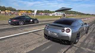 1000HP Nissan GT-R R35 vs 800HP BMW M5 F10 TTH TURBOLADER