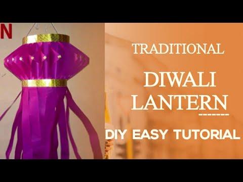 Diwali Lantern   Aakash Kandil   How to make paper lantern ?
