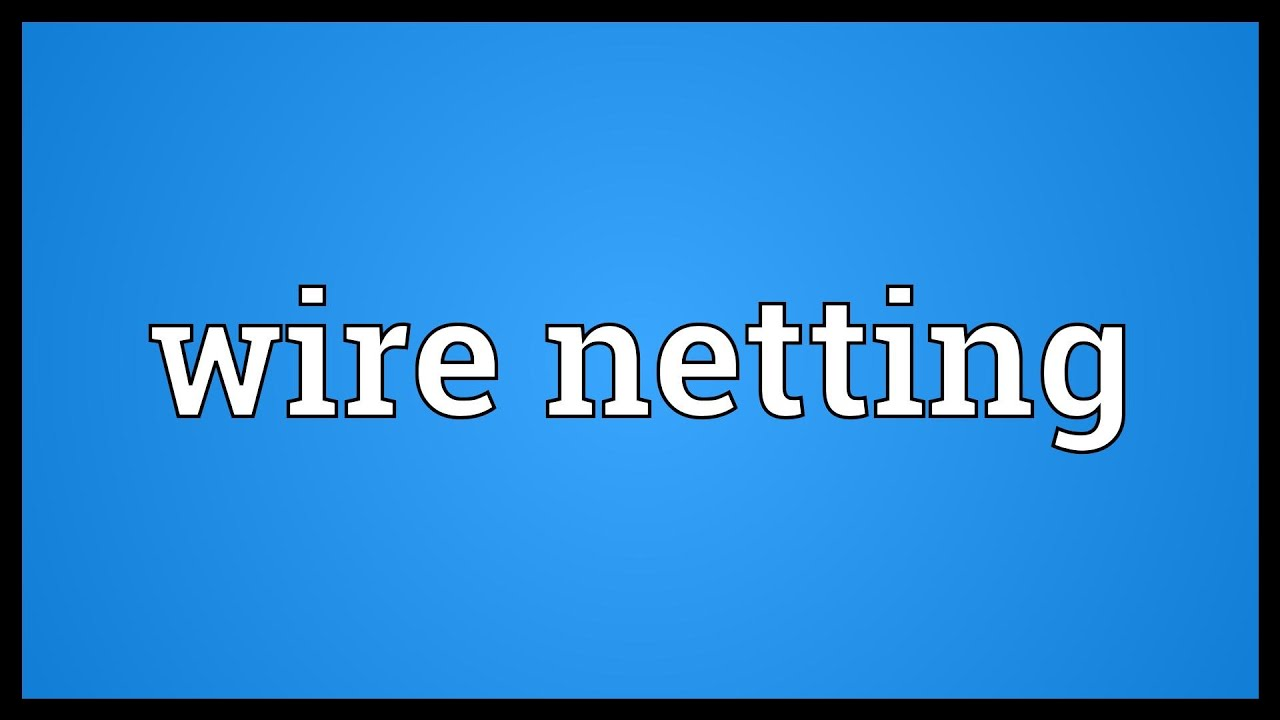 Wire netting Meaning - YouTube