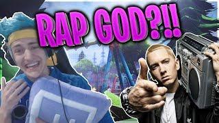 Ninja Rap God?!!! *INSANE FREESTYLE*(Fortnite Best Streamers) Fortnite Epic & Funny Moments #1