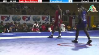 2012 Pan Am: 60 KG FS Semifinal: Yowlys Bonne Rodriguez (CUB) Vs. Shawn Bunch (USA)