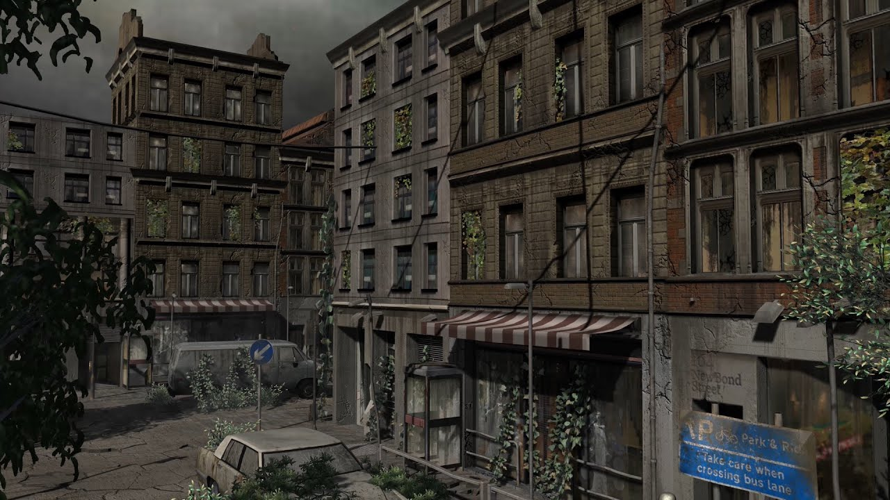apocalypse city video background scene royalty free