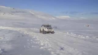 Landmannalaugar in Iceland, offroad in Nissan Patrol