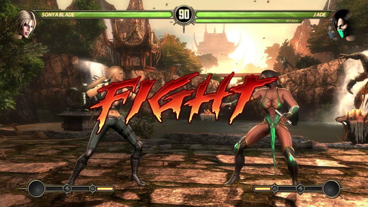 Mortal Kombat Komplete - Finish Him - Sonya Blade Character - YouTube
