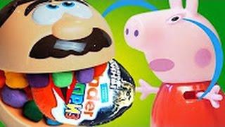 Свинка Пеппа Мультик с игрушками Зубастик съел яйцо киндер сюрприз с Джорджем  Peppa PigPeppa Pig
