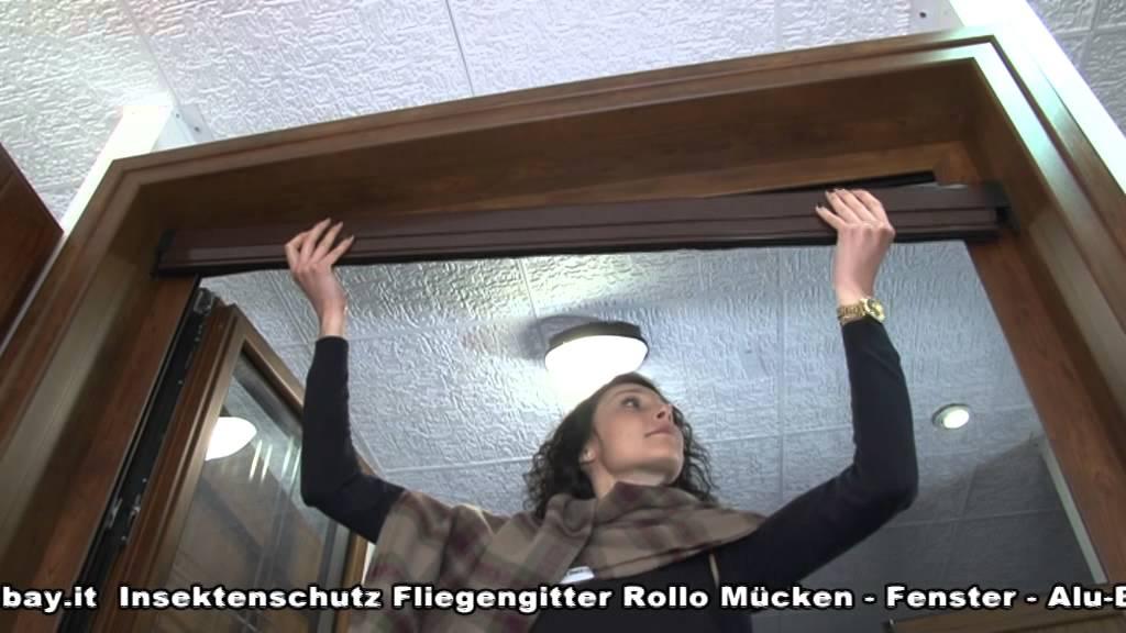 insektenschutz fliegengitter rollo m cken fenster alu bausatz nach masse youtube. Black Bedroom Furniture Sets. Home Design Ideas
