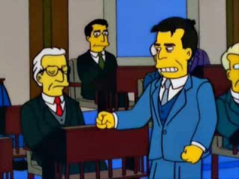 Mr smith goes to washington Simpsons alternate ending