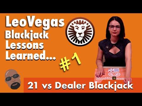 Live Casino Blackjack, Live Dealer & Player Both Get 21 But