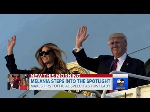 Melania Trump first speech as First Lady