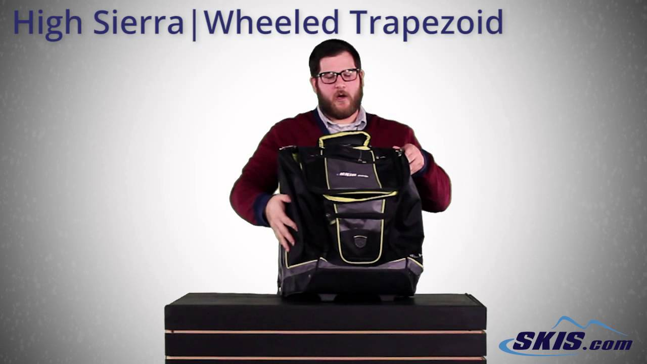 abf483a5fa High Sierra Wheeled Trapezoid Ski Boot Bag 2016 - YouTube