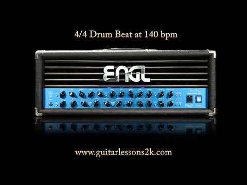 Drum Beats To Practice With: 4/4 Drum Beat At 140 BPM