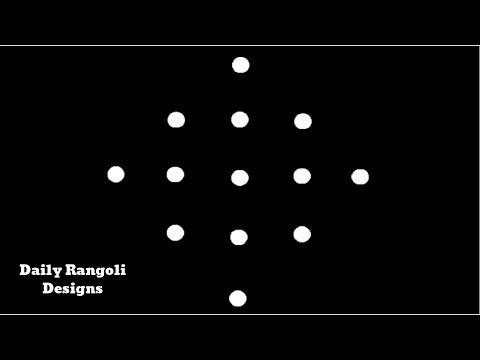 Beautiful Simple Padi Kolam Designs with 5X1 Dots |Easy Muggulu Kolam Rangoli |Easy Kolangal #929
