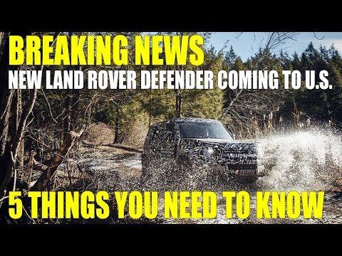2020 Land Rover Defender Teaser Footage