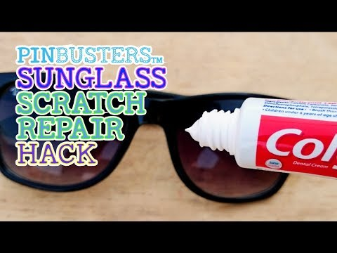 Repairing Sunglasses with Toothpaste // DOES THIS REALLY WORK?