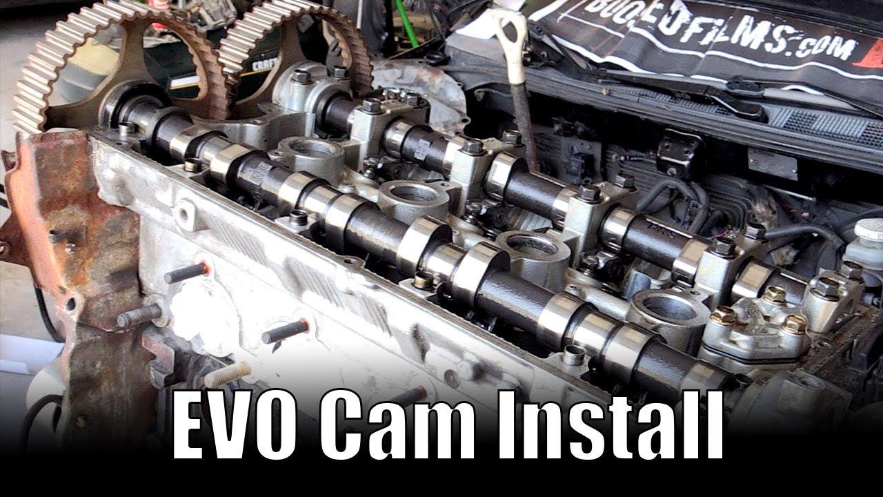 medium resolution of mitsubishi camshafts install how to video 4g63 dohc cam evo8 install